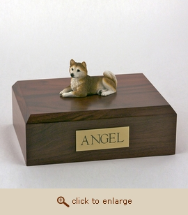 Husky, Red - Dog Figurine Wood Pet Urn