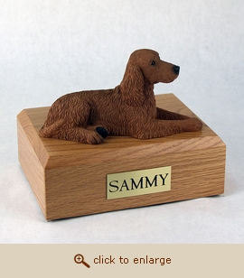 Irish Setter - Dog Figurine Wood Pet Urn