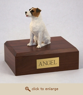 Jack Russell Terrier - Dog Figurine Wood Pet Urn