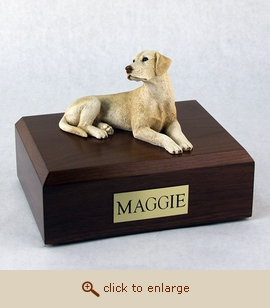 Labrador - Dog Figurine Wood Pet Urn