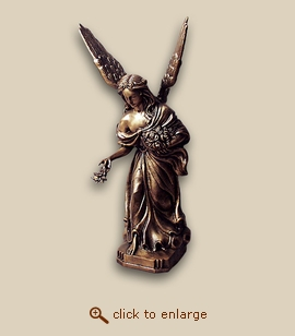 Lost Wax Cast Bronze Cremation Urn - Guardian Angel
