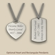 Silver Oak Cremation Urn Pendant Options