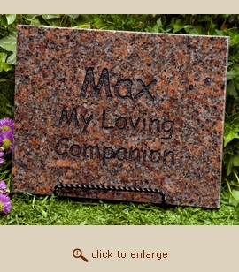 Mahogany Granite Pet Memorial Marker - Small
