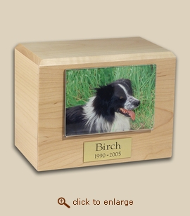 Maple Pet Photo Urn - 4 Sizes