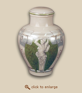 Michelangelo II Hand Painted Porcelain Cremation Urn