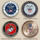 Military Medallion Patriot  Wood Cremation Urn Medallion Options