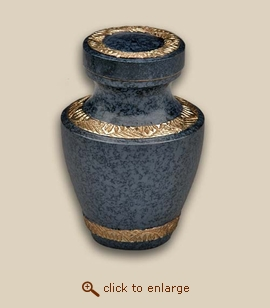 Modern Evening Blue Cremation Urn - Keepsake