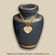 Modern Evening Blue Pet Cremation Urn with Optional Pendant