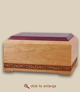 New Orleans Chest Wood Cremation Urn