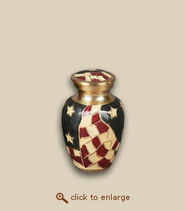 Old Glory Flag Cremation Urn - Keepsake