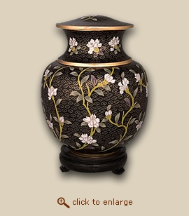 Palace Floral Cloisonne Cremation Urn - Small