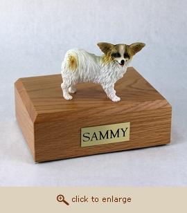 Papillon - Dog Figurine Wood Pet Urn