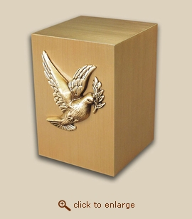 Paradise Child Bronze Cremation Urn with Dove