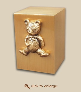 Paradise Child Bronze Cremation Urn with Teddy Bear