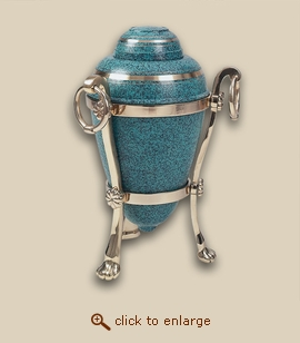 Patina Cremation Urn with Stand