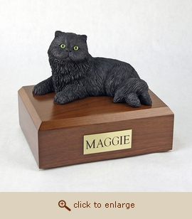 Persian - Cat Figurine Wood Pet Urn