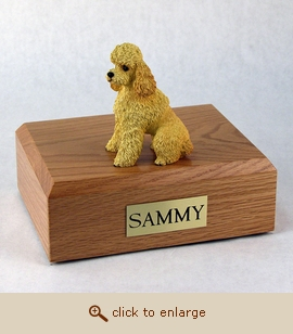 Poodle - Dog Figurine Wood Pet Urn