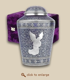 Praying Angel Brass Cremation Urn