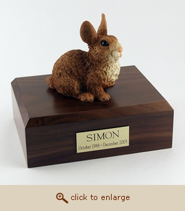 Rabbit - Figurine Wood Pet Urn