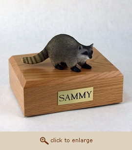 Raccoon - Figurine Wood Pet Urn