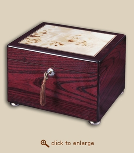 Reflection Chest Wood Cremation Urn - Rosewood