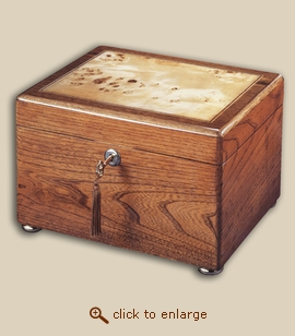 Reflection Chest Wood Xlarge Cremation Urn - Oak