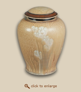 Sand Flower Hand Thrown Porcelain Cremation Urn