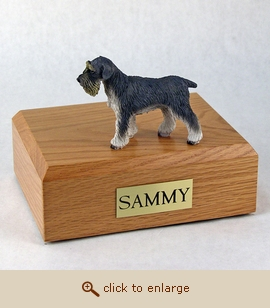 Schnauzer - Dog Figurine Wood Pet Urn