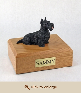 Scottish Terrier - Dog Figurine Wood Pet Urn