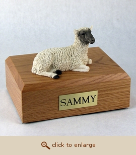 Sheep - Figurine Wood Pet Urn
