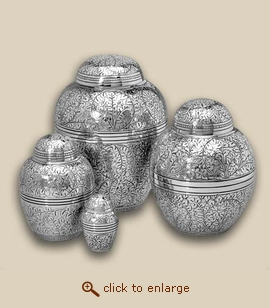 Silver Oak Cremation Urn - Medium