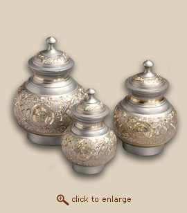 Silver Radiance Cremation Urn - Medium
