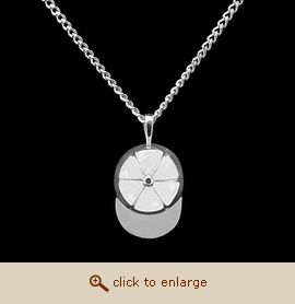 Sterling Silver Cremation Jewelry - Ballcap Pendant