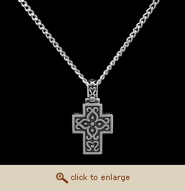 Sterling Silver Cremation Jewelry - Filigree Cross Pendant