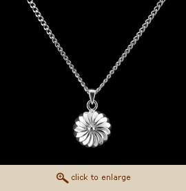 Sterling Silver Cremation Jewelry - Spoked Wheel Pendant