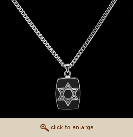 Sterling Silver Cremation Jewelry - Star of David Pendant