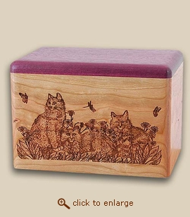 The Cats Wood Pet Urn