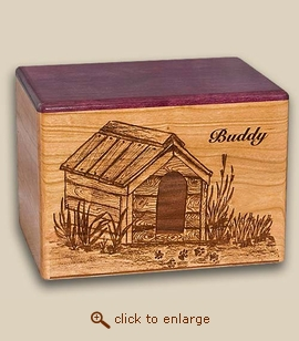 The Doghouse Wood Pet Urn - 2 Sizes