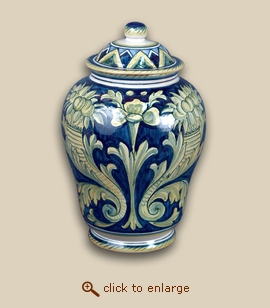 The Fiori Hand Painted Porcelain Cremation Urn