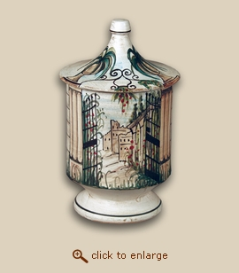 The Garden Hand Painted Porcelain Cremation Urn
