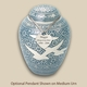 Traditional Going Home Pet Cremation Urn with Optional Pendant