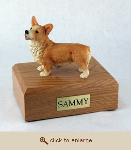 Welsh Corgi - Dog Figurine Wood Pet Urn