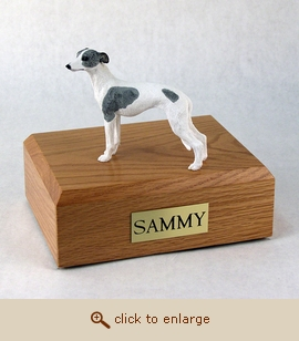 Whippet - Dog Figurine Wood Pet Urn