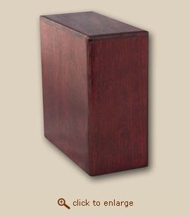 Wood Cremation Urn - Bookshelf