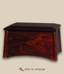 Wood Cremation Urn - Sequoia Style