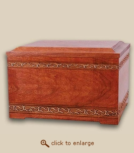 Wood Memory Chest Cremation Urn