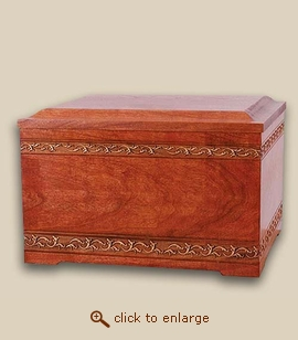 Wood Memory Chest Cremation Urn - Companion