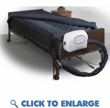 LATERAL ROTATION MATTRESS WITH ON DEMAND LOW AIR LOSS