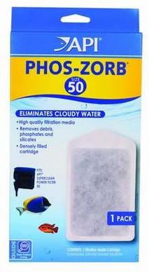 API SUPERCLEAN Power Filter Phos-Zorb Size 50 Single