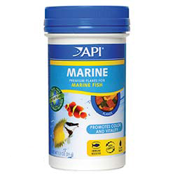 Aquarium Pharmaceuticals API Marine Fish Flakes - 1.1oz
